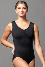 MotionWear 2893-695-Pinch Front Diamond Back Tank Leo-BLACK
