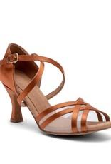 Capezio PAOLA-BR4007W-Ballroom Shoes 2.5'' Suede Sole Satin