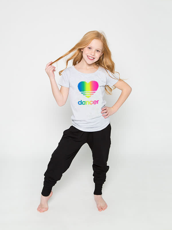 Sugar & Bruno D9482-Heart Dancer Rainbow Upscale Tee-6-8