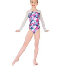Mondor 17818-PE-Mesh Long Sleeve Gym Leotard-PERSEIDS