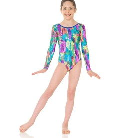 Mondor 17895-HF-Long Sleeve Gym Leotard-HIEROGLYPH