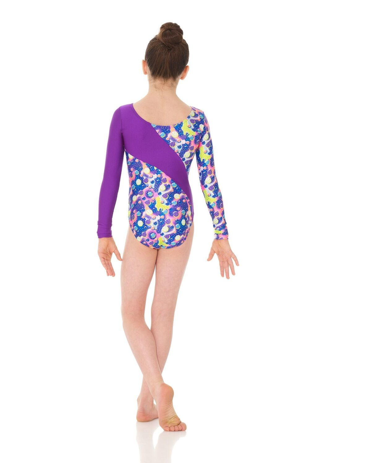 Mondor 37887-8P-Long Sleeve Gym Leotard-SPARKLING