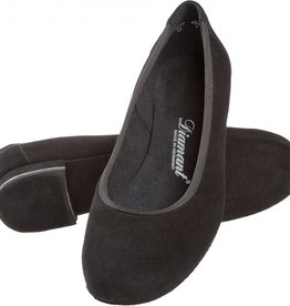 Diamant 175-005-001-Ballroom Shoes 1/2'' Bloc Heel Suede Sole Suede Leather -BLACK
