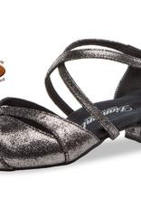 Diamant 146-029-419-Ballroom Shoes 1'' Bloc Heel  Suede Sole Antique Suede-PLATINUM