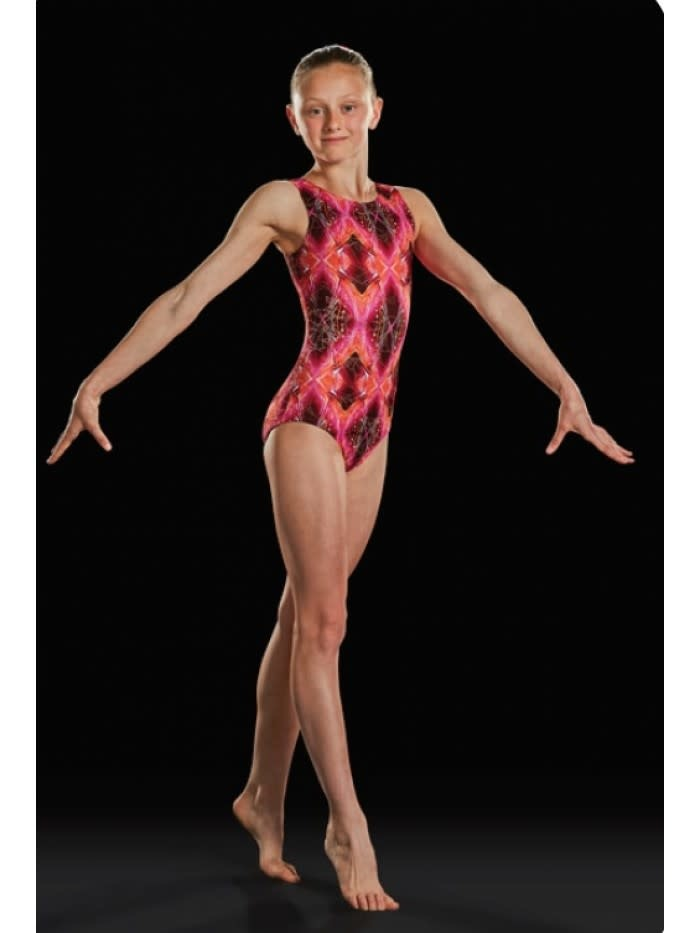 Leo DanceWear GB156L-Adult Gym Tank Leotard-VOLCANO