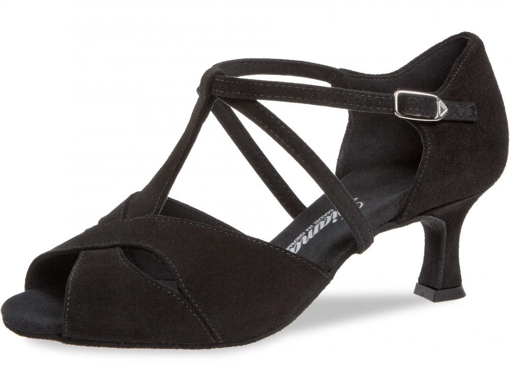 Diamant 182-077-001-Ballroom Shoes 2'' Flare Suede Sole-Suede-BLACK