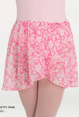 BodyWrappers 138-Child Chiffon Print Skirt-PRETTY PINK
