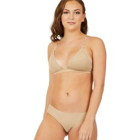 Capezio 3777W-Deep Neck Clear Back Bra