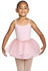 Bloch CR4931-Lenna Glitter Tulle Tutu Skirt-PINK-2-4