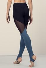 Bloch FP5196-Legging à Panneaux de Couleur Pleine Longueur-SEAPORT-MEDIUM