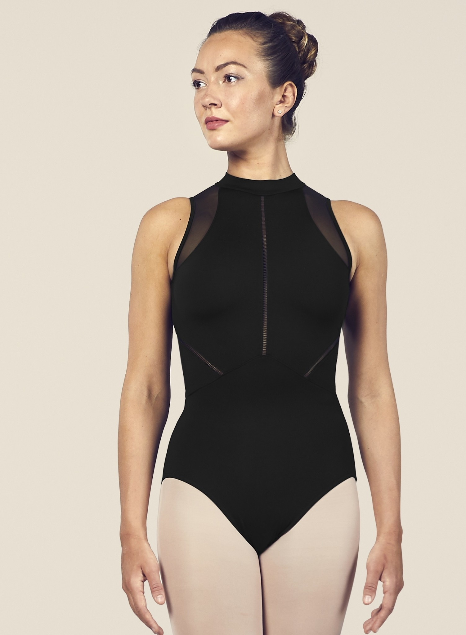 Bloch L4985-Loanne High Necline Zip Open Back Leotard