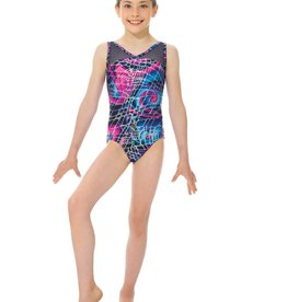 Mondor 17817-T6-Gym Tank Leotard-BLUE SWIRL