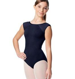 Lulli Dancewear LUB348C-Nikita Girls Yoke Mesh Cap Sleeve Leotard