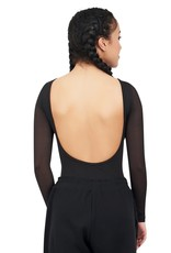 Capezio 11654W-Front Keyhole Long Sleeve Leotard-BLACK