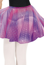 Eurotard 02283-Girls Sequin Tulle Pull On Skirt