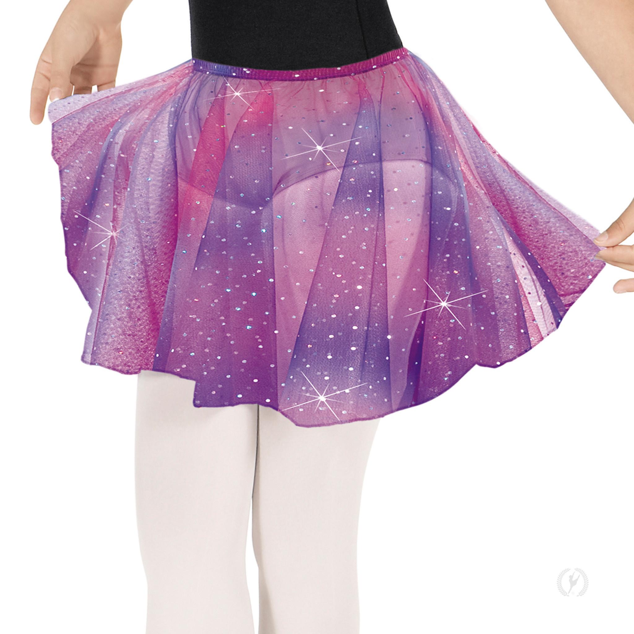Eurotard 02283-Girls Sequin Tulle Pull On Skirt