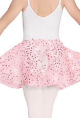 Eurotard 05283-Girls Enchanted Dreams Sequin Mesh Pull On Skirt-PINK