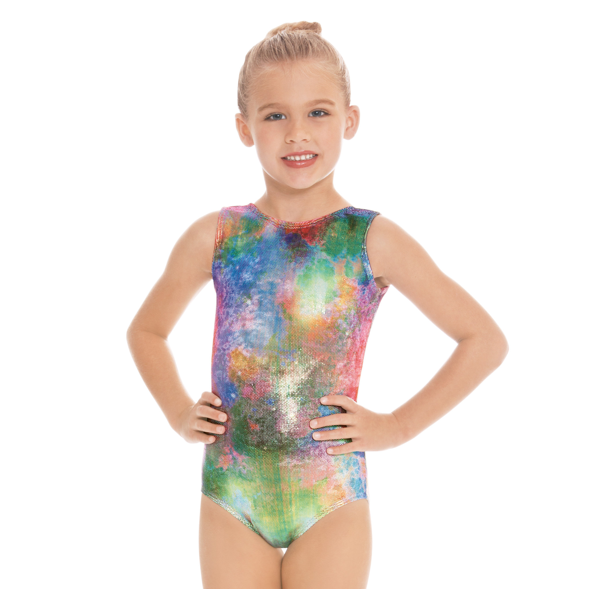 Eurotard 7689-Metallic Mermaid Soft Velvet Gym Leotard