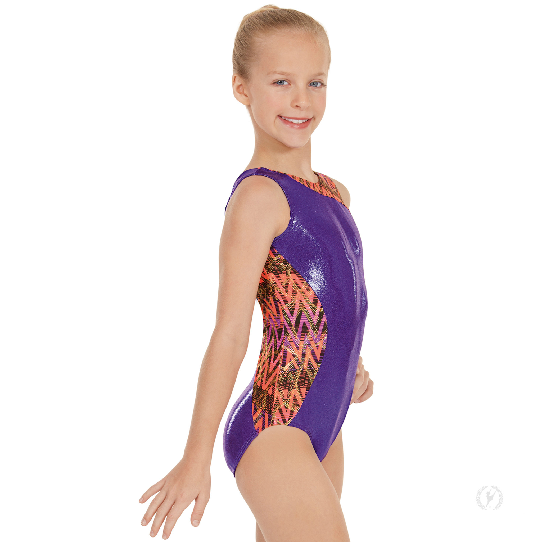 Eurotard 58462-Metallic Printed Panel Gym Leotard