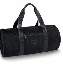 Danshuz B20502-The Honeycomb Duffel Bag-BLACK