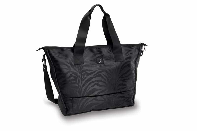 Danshuz B20504-Jacquarded Zebra Tote-BLACK