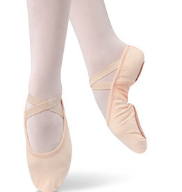 Danshuz 497-Adult Split Sole Stretch Canevas With Nylon Spandex Arch-PINK