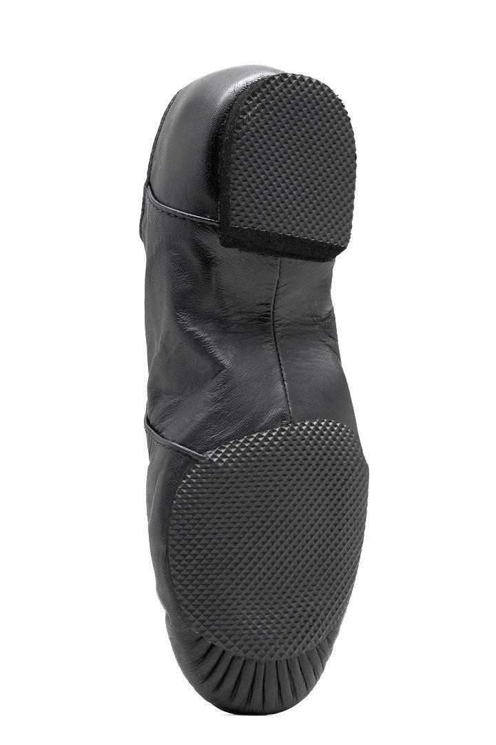 Bloch S0405L-Jazzsoft Leather Shoe Split Sole-BLACK