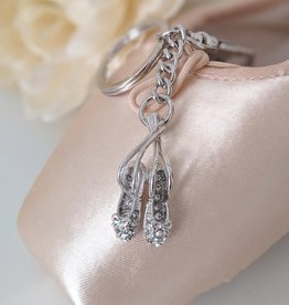 American Dance Supply 115-Pointe Shoes Keychain-CLEAR