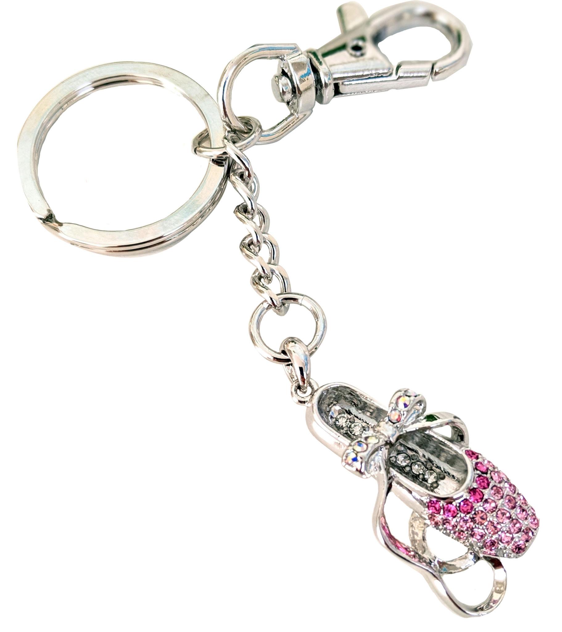 American Dance Supply 136-Pointe Shoe Keychain-PINK