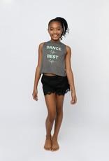 Sugar & Bruno D9805-Haut Court Croisé au Dos Dance Life