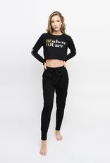 Sugar & Bruno D9751-Be Present Crop Long Sleeve Tee