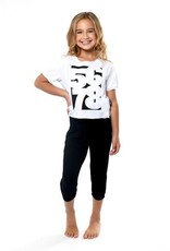 Sugar & Bruno D9561-5678 Crop Tee- White-YOUTH ONE SIZE