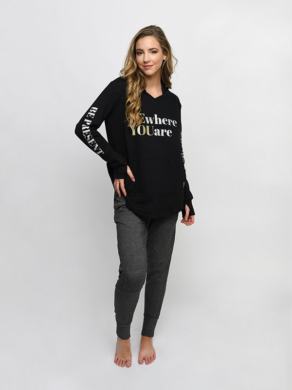 Sugar & Bruno D9840-Be Present 365 French Terry Hoodie
