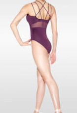 SoDanca RDE-1724-Monica Triple Strap Cami Leotard With Insert Mesh