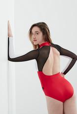 Dancewear Royale ALICE-Maillot sur Mesur tricolore Mesh Sur Les Manches Arrière