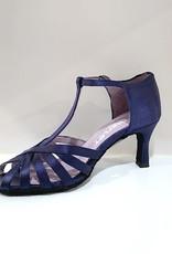 "Merlet SABINE-1720-643-Ballroom Shoes 2.5"" Suede Sole Satin-NAVY"