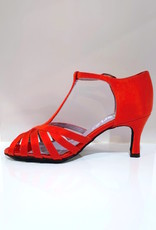 "Merlet SABINE-1720-232-Ballroom Shoes 2.5"" Suede Sole Satin-RED"