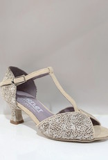 Merlet KATE-1869-817-Ballroom Shoes 2'' Suede Sole Brescia Leather-CACHEMIRE/SILVER