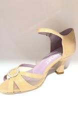 """Merlet Jolene-1475--Ballroom Shoes 2.5"""" Suede Sole Velvet Leather-CACHEMIRE"""
