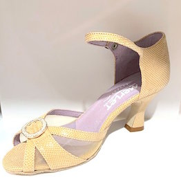 "Merlet Jolene-1475--Ballroom Shoes 2.5"" Suede Sole Velvet Leather-CACHEMIRE"