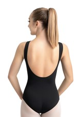 Capezio MC220-Adult Boatneck  Scoop Back Leotard-BLACK