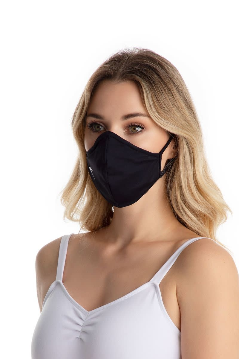SoDanca RDE2170-Adult Fitted Solid Face Mask With Ear Loops-ONE SIZE