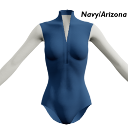 Dancewear Royale HELLA-Custom Leotard Mesh Sleeves And Back Low V-neck