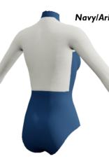 Dancewear Royale HELLA-Maillot sur Mesure Col en V Manche et Dos en Mesh