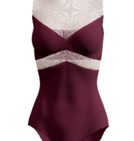 Dancewear Royale NEFERTITI-Custom Leotard Top and Bottom Separated By Mesh Back Closes With Bow