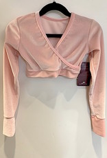 MotionWear 3380-322-Pullover Wrap Jacket-CRYSTAL PINK