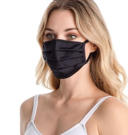 SoDanca RDE2168-Adult Pleated Face Mask with Ear Loops-ONE SIZE-BLACK