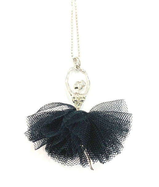 American Dance Supply 518-Tutu Ballerina Necklace-BLACK