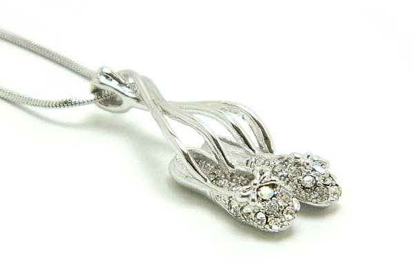 American Dance Supply 515-Dance slippers necklace-CLEAR