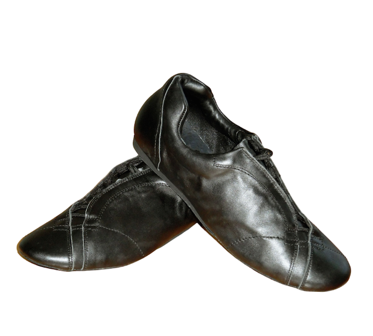 Ballo BALLO FLY-Chaussures de Danse Sport Unisexe Semelle de Suède-NOIR